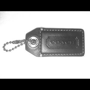 Coach Two-Tone Black/Tan hangtag